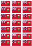 Ontario Flag Stickers - 21 per sheet